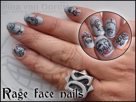 Rage Face Nails