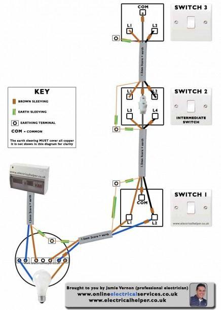 Loop In Lighting Circuit Diagram 3, Wiring Diagram For 3 Way Switch Uk