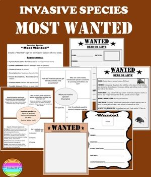 Invasive Species Most Wanted Activity Editable Ppt And Templates