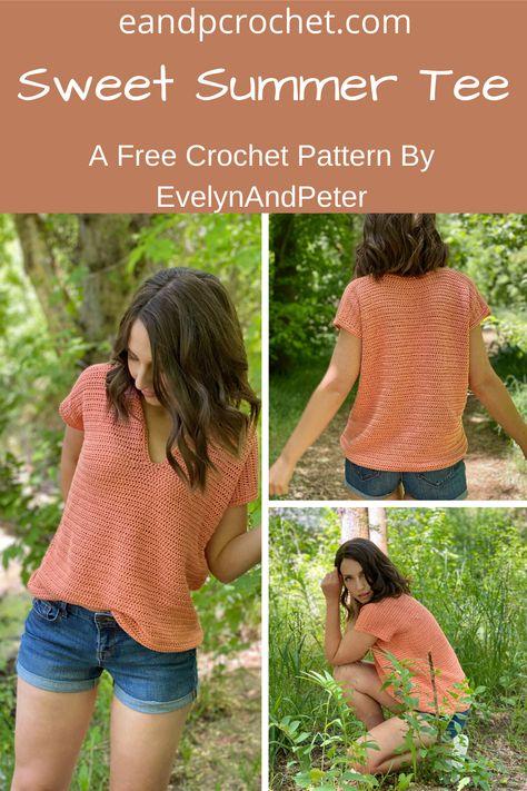 Mode Crochet, Diy Crochet, Dishcloth Crochet, Crochet Afghans, Crochet Braids, Crochet Blankets, Crochet Stitches, Crochet Summer Tops, Crochet Tops