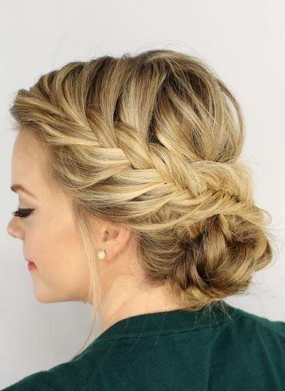 Festliche hochsteckfrisuren halblanges haar