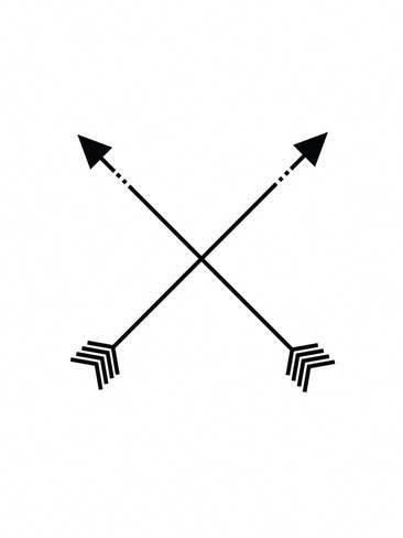 Giclee Print: Black White Arrow by Jetty Printables : 40x30in #coolgeometrictattos