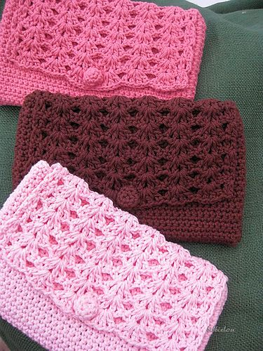 Clutch Bag Crochet Pattern : Free Pattern: Perfect Purse - The crocheted button is adorable and I ...