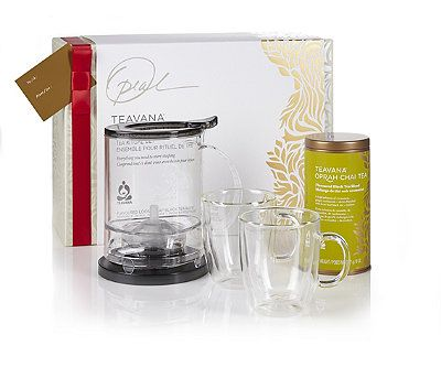 Teavana Oprah Chai Holiday Collection, $89.85 at teavana.com. For every gift set purchased, $4.00 will be donated to support educational programs for young people, including Girls Inc., National CARES Mentoring Movement, Pathways to College and U.S. Dream Academy.