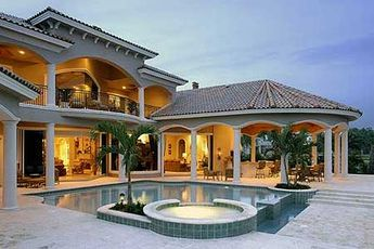 Plan 66070we Stunning Two Story Luxury Home Plan Mediterranean Style House Plans Florida House Plans Luxury Homes Dream Houses