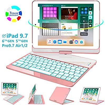 Amazon Com Greenlaw Ipad 9 7 Keyboard Case Compatible Ipad 2018 6th Gen 2017 5th Gen Ipad Pro 9 7 Air 2 Air In 2020 Ipad Keyboard Case Keyboard Case Ipad Keyboard