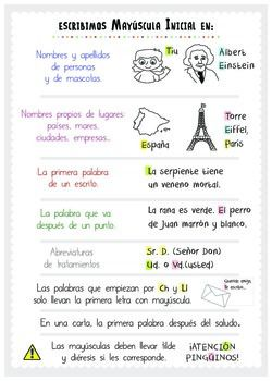 Ejercicios Del Uso De Mayúsculas By Lola S Teachers Pay Teachers Spanish Anchor Charts Writing Learning Spanish