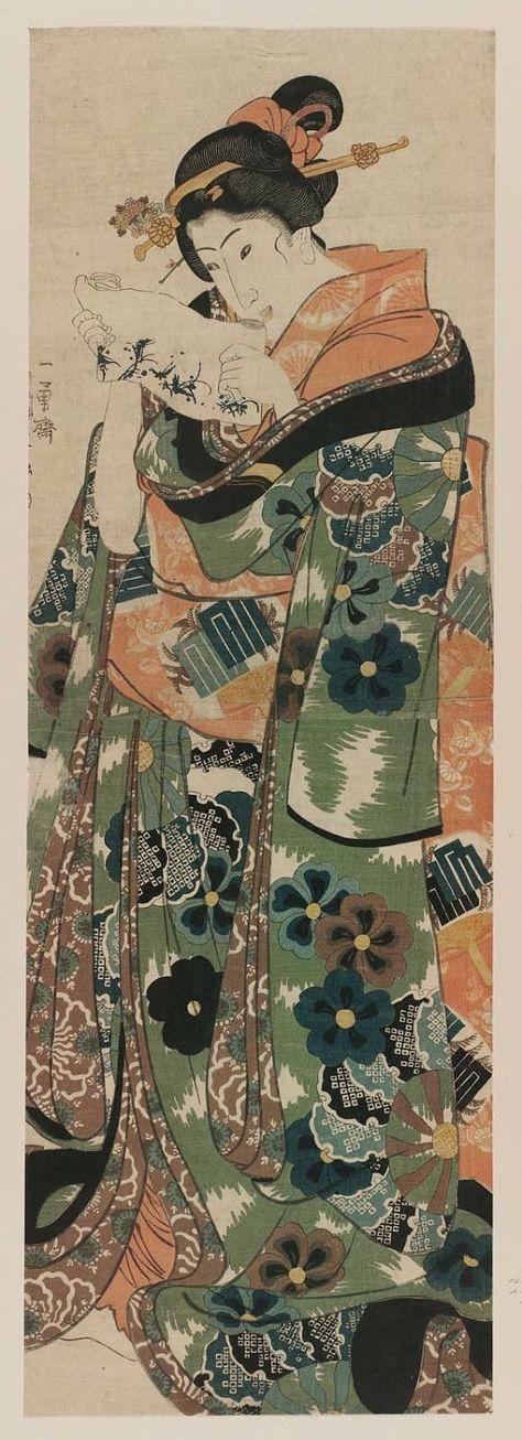 Shī-ga-moto, Blatt 46 aus der Serie Genji Wolken zusammen mit - sch ller k chen hamburg