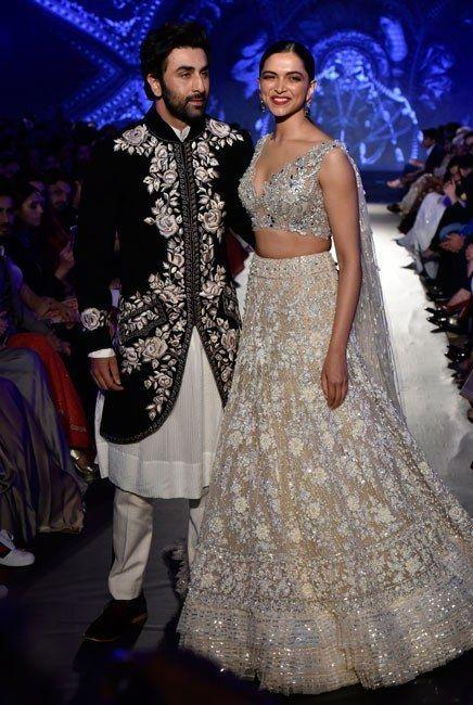 Deepika Padukone And Ranbir Kapoor Get Together For Manish Malhotra Design Model Dress Shoes Heels S Indian Wedding Outfits Manish Malhotra Indian Outfits