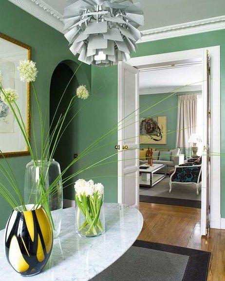 Una Casa De Colores Frescos Decoracion Del Hogar Verde Casa