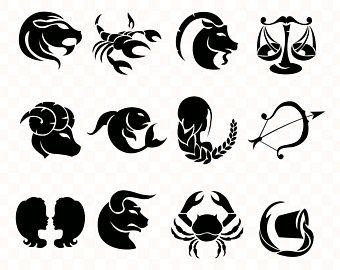 Zodiak Signs Clipart Horoscope Vector Image Svg Cdr Png Etsy Virgo Constellation Tattoo Constellation Tattoos Clip Art