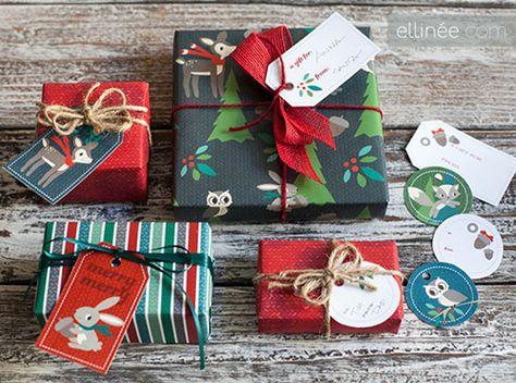 My Owl Barn: FREE Printable Christmas Gift Wraps + Tags + Petal Cards
