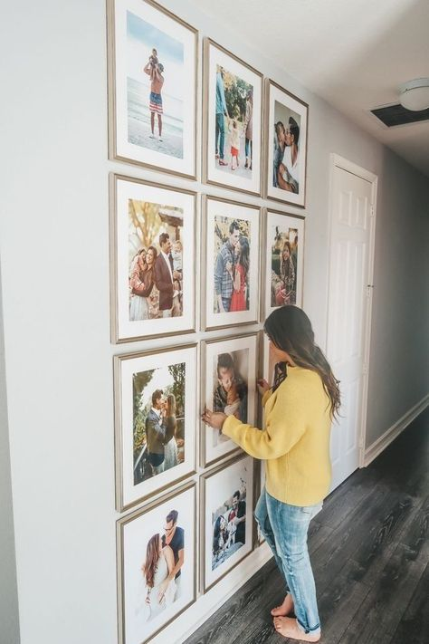 Home Interior Design — The Perfect Floor to Ceiling Gallery Wall