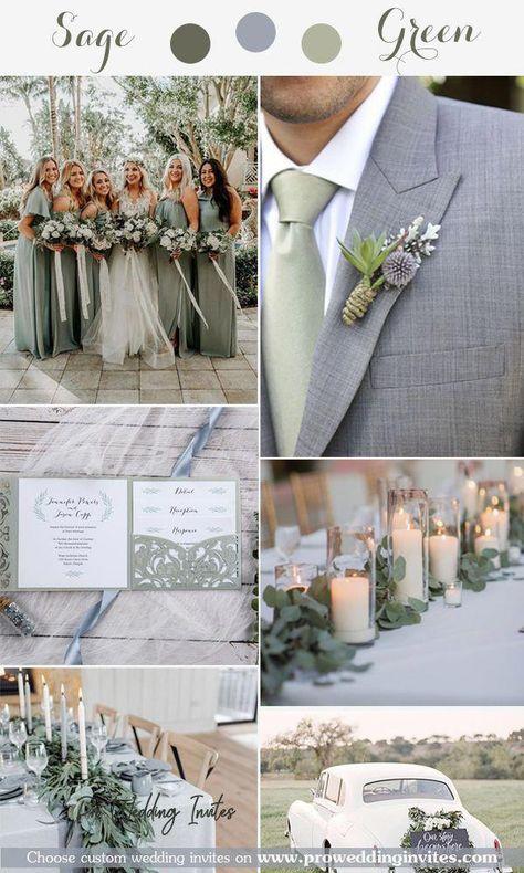 Sage wedding colors, Sage green wedding theme, greenery wedding, green wedding colors - Judy E.