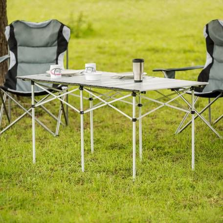 Camping Klapptisch Aus Aluminium Inkl Tasche 140x70x70cm Gunstig