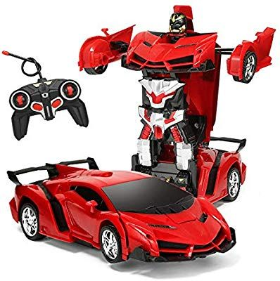 1:18 Transforming Robot Figures Remote Controlled RC Car Vehicles Kids Toy Gift