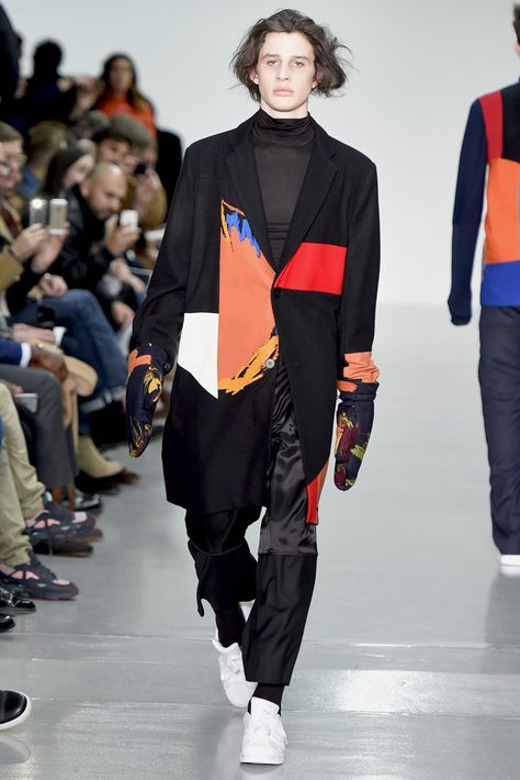 "Agi & Sam Men's RTW Fall 2015 Agi Mdumulla and Sam Cotton based their collection on ""cool man"" — a character Mdumulla drew when he was 4 — and aimed to capture the carefree creativity of little."