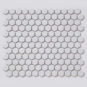 SAMPLE  Black Hexagon Matt Mosaic Wall /& Floor Tiles 2.3 x 2.3