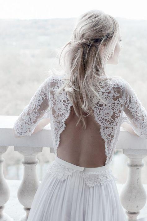 Espalda de vértigo de Margaux Tardits #novia #vestido