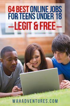 111 Best Online Jobs for Teens Under 18. Legit & Free.