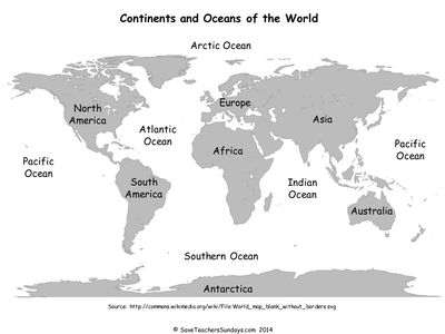 World Map Labelling Activity Geography KS1 Pinterest - new world map to print ks1