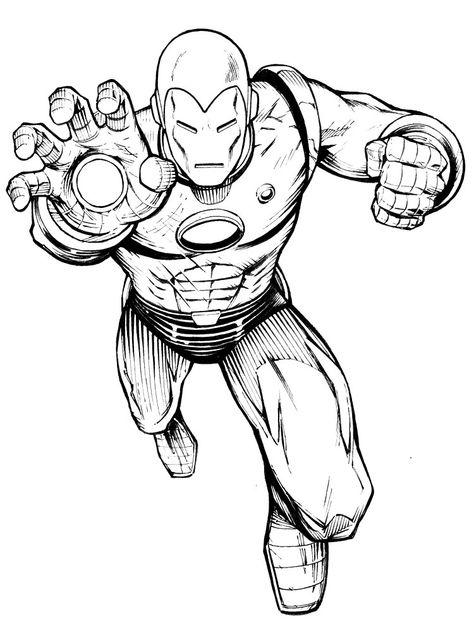 Imprimir Dibujos Para Colorear Iron Man Para Ninos Y Ninas