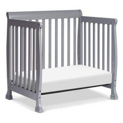 Davinci Kalani 4 In 1 Convertible Mini Crib And Twin Bed Gray Convertible Crib Mini Crib Cribs