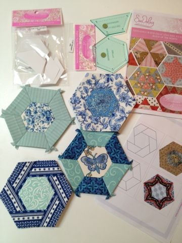 lots of different hexie ideas.  Happy Appliquer blogspot