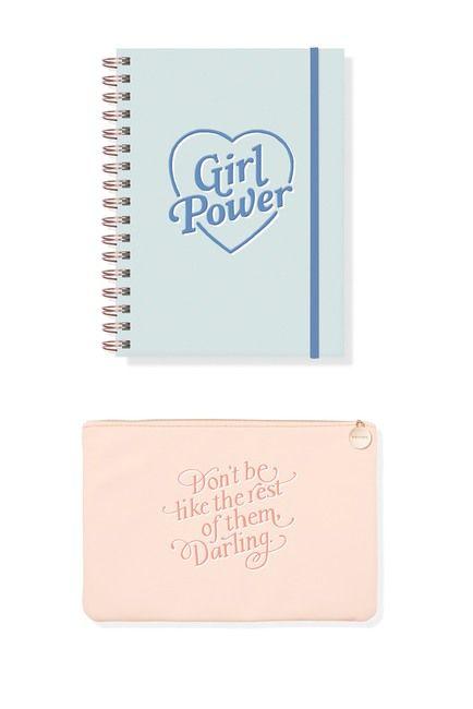 Fringe Studio Multi Girl Power Journal Pouch Set Girl Power