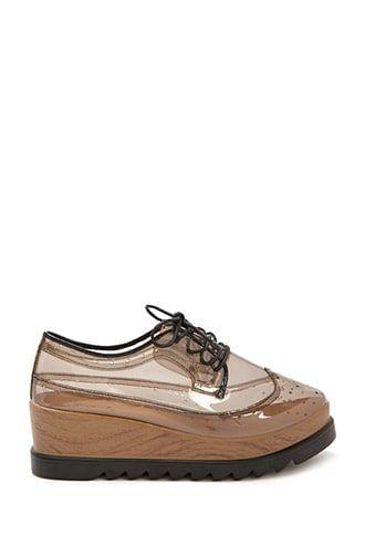 Qupid Transparent Platform Oxfords | Shoes, Oxford platform