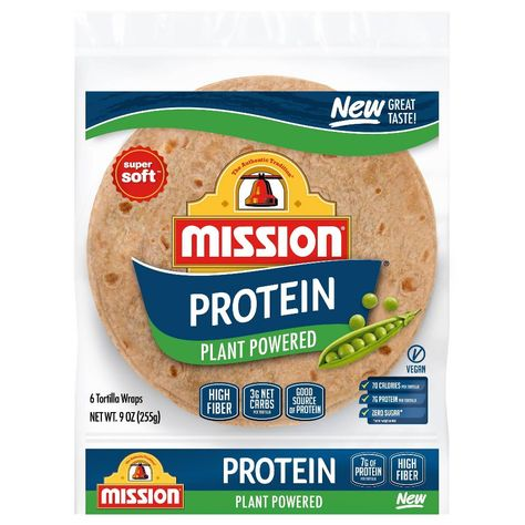 Mission Protein Tortilla Wraps - keto food list for ketogenic diet Best Protein, High Protein Recipes, Protein Foods, Low Carb Recipes, Diet Recipes, Vegan Recipes, Protein Power, Keto Foods, Health Foods