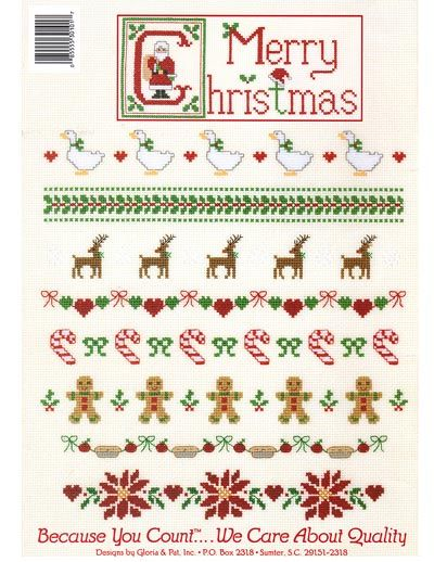 Christmas cross-stitch border ideas | Christmas Cross-stitch ...