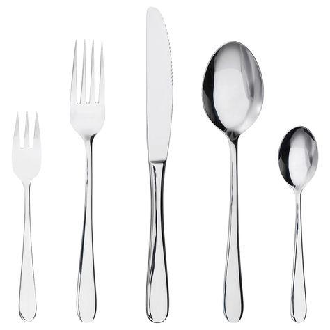 IKEA DRAGON Stainless steel 24-piece cutlery set