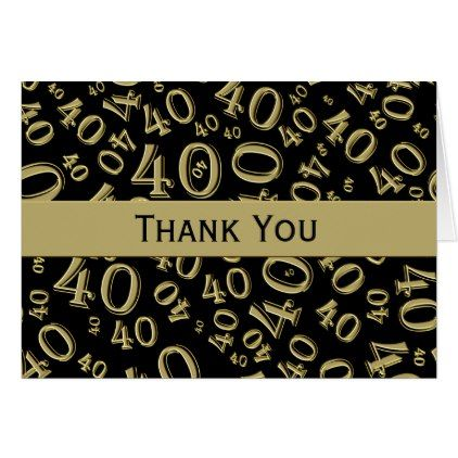 Thank You Black Gold Over The Hill 40th Birthday Zazzle Com 40th Birthday 40th Birthday Cards Birthday Cards