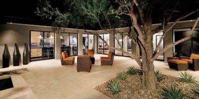 Contemporary Neutral Courtyard GREAT IDEA