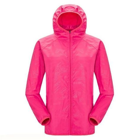 Quick-Dry Unisex Windproof Hiking Jacket - Light-weight Waterproof Jacket With H
