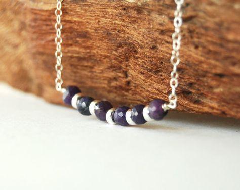 Kainui necklace blue sapphire sterling silver by kealohajewelry
