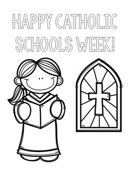 Catholic Schools Week Coloring Pages Catholic Schools Week Catholic School School Week