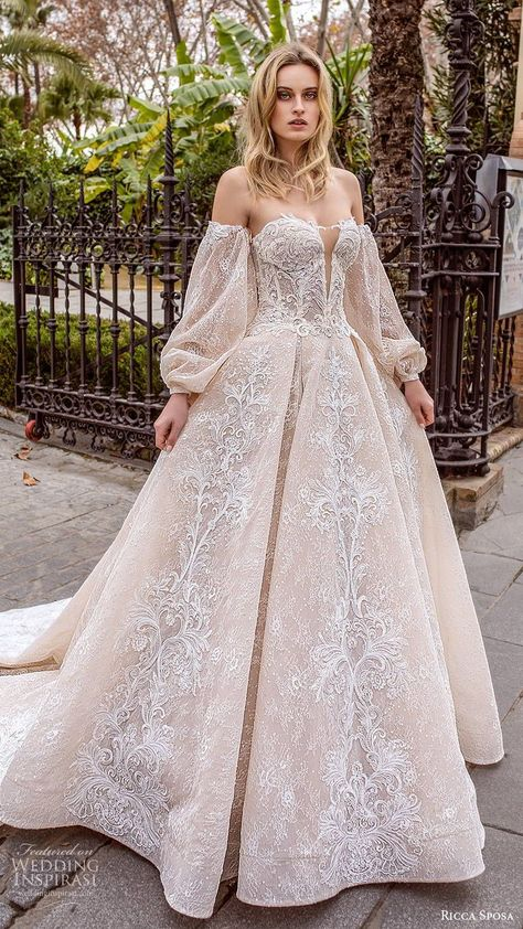Ricca Sposa 2020 Wedding Dresses \u2014 Dell\u2019amor Couture Bridal Collection Showstopping gowns ahead! Romance, elegance and drama come together in Ricca Sposa\u2019s Dell\u2019amor Couture bridal collection. These splendid gowns feature exquisite embroideries
