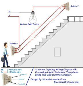 Two Way Switch Wiring Diagram Mit Bildern Elektroinstallation Haus Elektroverkabelung Elektrisch
