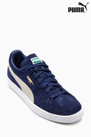 Mens Puma Suede Classic Trainer - Blue