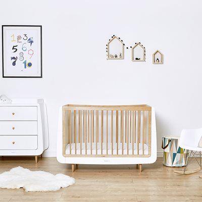 Snuzkot Skandi 2 Piece Nursery Furniture Set Orange In
