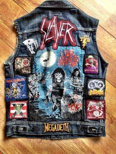 heavy metal battle vest black metal pantera iron maiden waistcoat motorhead |death| alice in chains| patches |