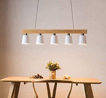 Zmh Lampe Suspension Luminaire Plafonnier E27 Avec 5 Flammes Lampe