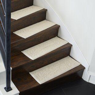 Tucker Murphy Pet Beauvais Stair Tread Wayfair Stair Tread | Wayfair Stair Carpet Runners | Textured Carpet | Rosalind Wheeler | Staircase Makeover | Treads Carpet | Brown Beige