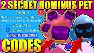 2 Secret Dominus Pet Codes In Bubble Gum Simulator Roblox Bubble Gum Roblox Bubbles