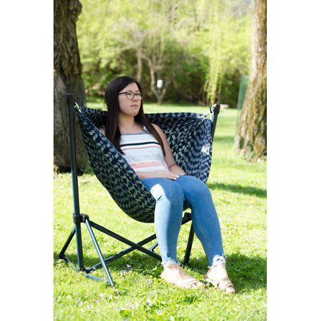 Ozark Trail Steel Folding Hammock Chair With Padded Seat Walmart