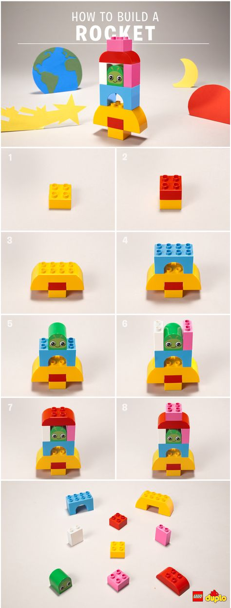 Your toddler will have a blast building this LEGO DUPLO rocket and