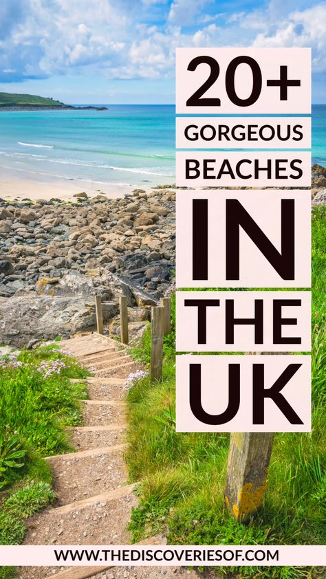 Looking for the best beaches to visit in Great Britain? Don't miss these gorgeous beaches - perfect for sunny summer holiday escapes in the United Kingdom #british #travel #inspiration #holidays