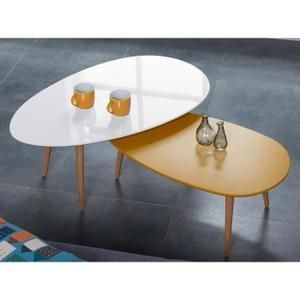 Stone Table Basse Scandinave Laquee Jaune Moutarde Table Basse Cdiscount Table Basse Table Basse Ovale